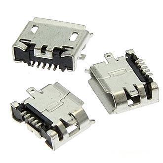 Разъем microUSB (м) на плату, 5 конт., поверхн.монтаж (microUSB 5BFR) (Micro usb 5S B)